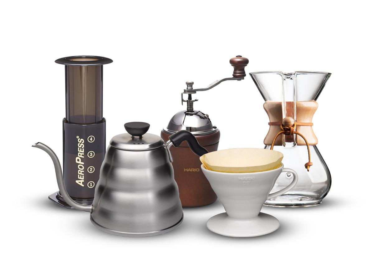 Utensílios para café filtrado: Hario, Clever, Aeropress, Bonavita e Chemex