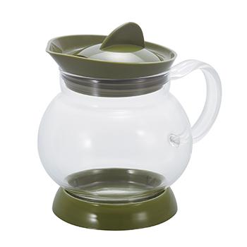 buke para cha de vidro verde comfiltro
