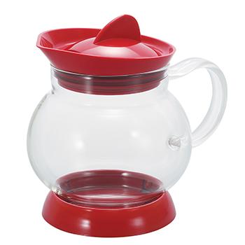 bule para cha vermelho com filtro