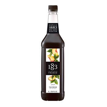 Xarope 1883 de chá preto de pêssego bebidas e coqueteis