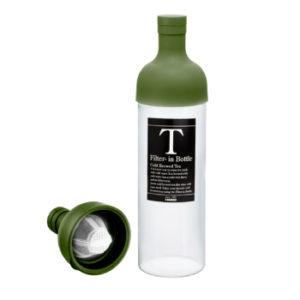 Garrafa de vidro para infusão de chá