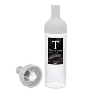 Garrafa de vidro branco infusor deGarrafa de vidro para infusão de chá