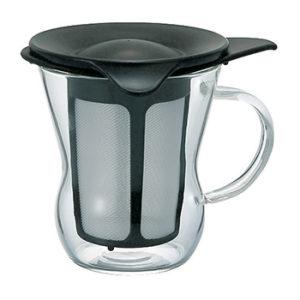 Infusor de chá preto vidro hario