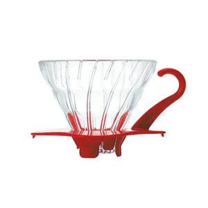 Suporte para Filtro de Café V60-01 Hario Vidro Vermelho
