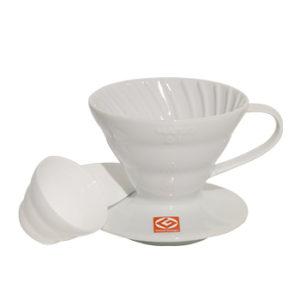 Suporte Ceramica Branca V60 Hario